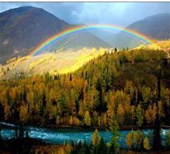 喀纳斯彩虹