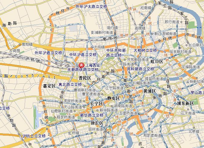 上海到哈尔滨地图