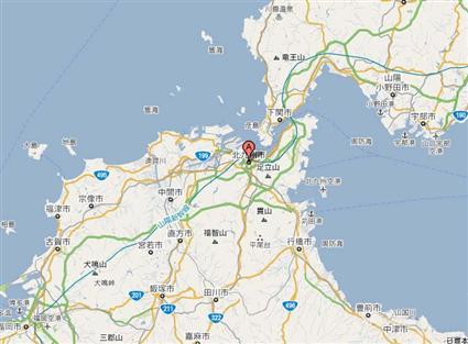 日本北九州地图