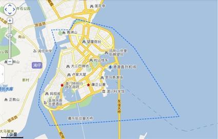 澳门半岛旅游地图【相关词_ 澳门半岛地图】