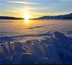 冬季赛里木湖